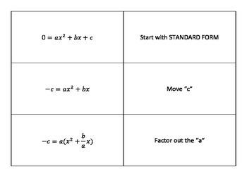 Derive Quadratic Formula Mix 'n Match