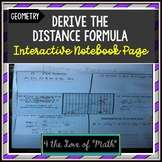 Derive the Distance Formula Interactive Notebook Pages