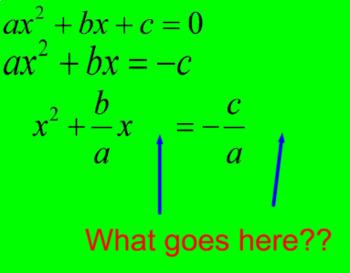 Derive the Quadratic Formula in a PDF File