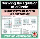 Deriving Equation of a Circle using Pythagorean's Theorem CCSS G-GPE.1