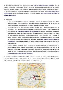 Des Attaques a Paris en novembre 2015