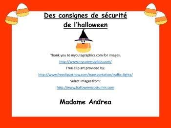 Des consignes de sécurité de l'halloween