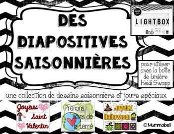 Des diapositives saisonnières - French version for the Lightbox