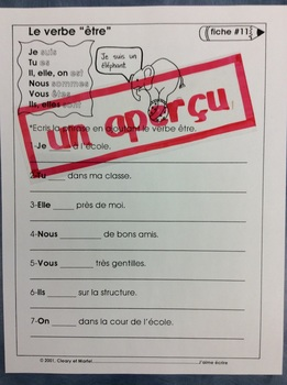 J'aime écrire- FRENCH Grammar Worksheets for Primary Students