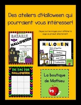 Des lettres et des nombres d'Halloween!