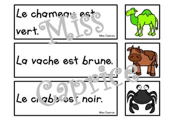 Des phrases colorées - 1re année