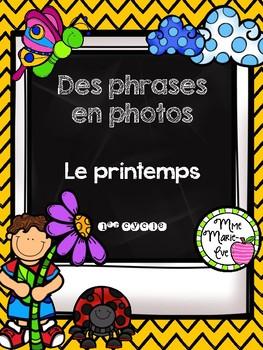 Des phrases en photos - Le printemps