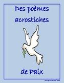 Des poèmes acrostiches de Paix