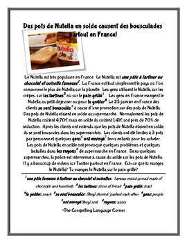 Des pots de Nutella en solde causent des bousculades partout en France!