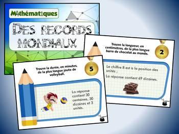 Des records mondiaux, série 2 (cartes à tâches) (Mathématiques)