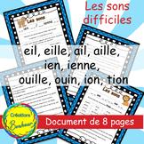 Des sons difficiles et le genre des mots en français