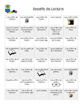 Desafío de Lectura - Reading Challenge in Spanish