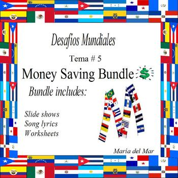 Desafíos Mundiales Supplemental Growing Bundle for Tema # 6