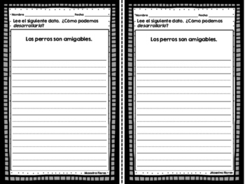 Desarrollar datos en la escritura informativa/ Expand and Add Details in Spanish