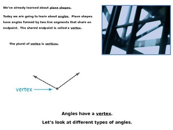 Describe Angles in Plane Shapes