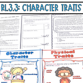 Describe Character Traits Fiction Passages and Questions CCSS RL.3.3