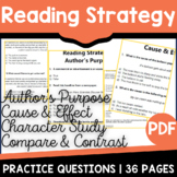Cause & Effect Passages | Compare and Contrast Activities | Reading Strategies