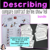 Describe, Compare, Contrast, Define and Tell Bundle Special Ed Speech Therapy