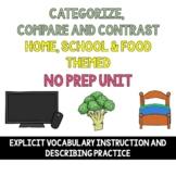 Categorize, Describe, Compare & Contrast  with Home, Schoo