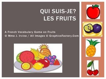 Describe Fruits Qui Suis Je Game