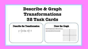 Describe & Graph Transformations Task Cards