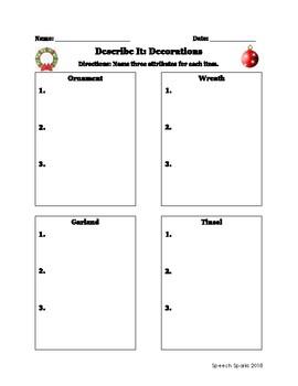 Describe It: December