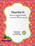 Describe It! Expressive Language Skill builder