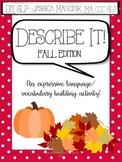 Describe It! Fall Edition