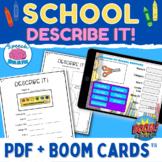 Describe It! School Supplies Packet {No Prep for Semantic