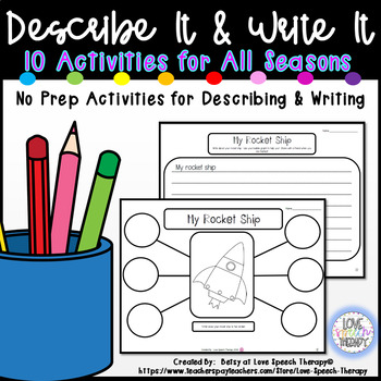 Describe It & Write It! PRINT & GO Language Activities
