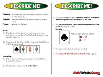 Describe Me! - 1st Grade Math Game [CCSS 1.OA.C.6]