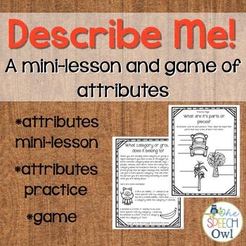Describe Me! A Mini-Lesson and Game of Attributes