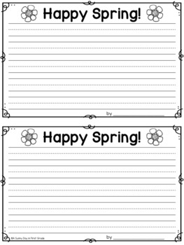 Write About Me: Spring Time!