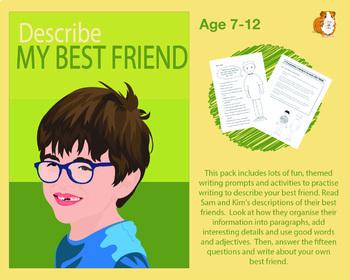Describe My Best Friend (7-11 years)