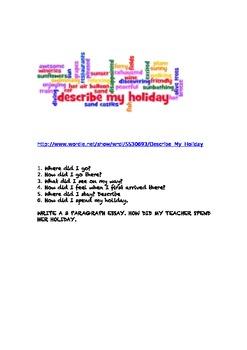 Describe My Holiday