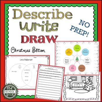 Describe Write Draw Christmas Version