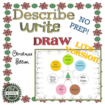 Describe Write Draw Christmas Version: LITE