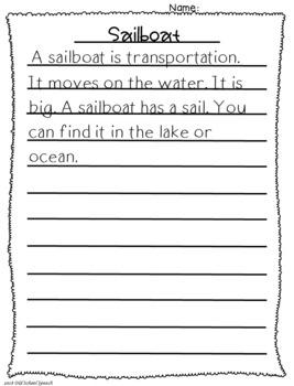 Describe Write Draw Summer Version
