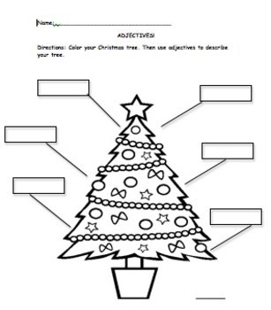 Describe YOUR Christmas tree using adjectives!