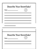 Describe Your Snowflake!