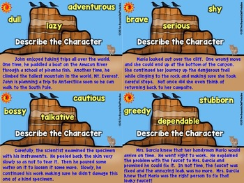Describing Characters Graphic Organizers and More!