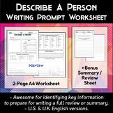 Describe a Person Worksheet
