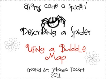 Describe a Spider with a Bubble Map