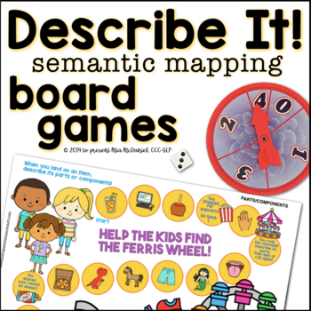 Describe it! Semantic Mapping Game Boards {use alone or wi
