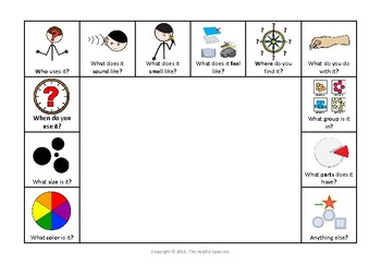 Describe it visual organiser - graphic organizer