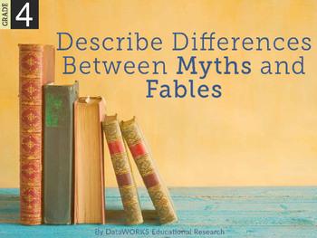 Describe structural differences between myths and fables