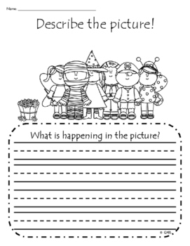 Describe the Picture Sentence Writing Practice - Fall Edition