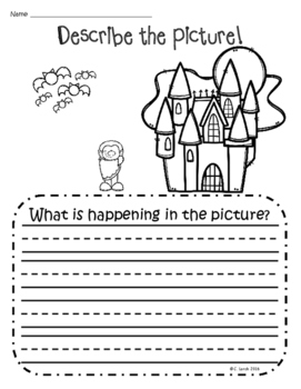 Describe the Picture Sentence Writing Practice - Halloween Edition