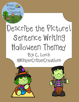 Describe the Picture Sentence Writing Practice - Halloween