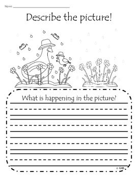 Describe the Picture Sentence Writing Practice